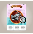 Vintage poster with high detail motorbike vector image vector image