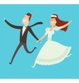 wedding couples cartoon style vector image vector image