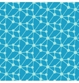 Geometric molecule design on blue background vector image