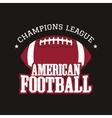 American football champions league badge logo vector image