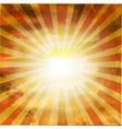 Retro Square Shaped Sunburst vector image