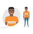 stylish young black african american man in a vector image