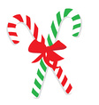 Green and red christmas candy cane vector image