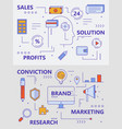 set of modern thin line sales concept vector image