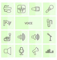 14 voice icons vector image vector image