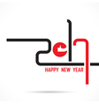 201 and 7 and good hand sign vector image