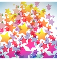 abstract colorful star background vector image vector image