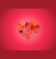 abstract heart of flowers greeting card layout vector image