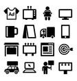 Advertisement Icons Set on White Background vector image vector image