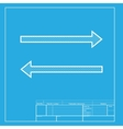 Arrow simple sign White section of icon on vector image