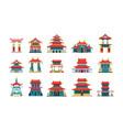 asian buildings china traditional palazzo ancient vector image vector image