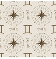 Astrology sign Twins Seamless pattern