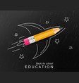 back to school creative realistic crayon vector image