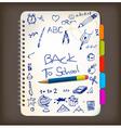 back to school doodle vector image vector image