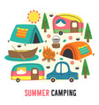 basic rgbposter funny summer camping vector image