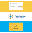 beautiful cloud network logo and business card vector image vector image