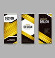 bright roll-up banner with golden lines on dark vector image vector image