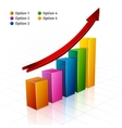 Business Graph 3d vector image vector image