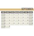 Calendar planner 2019 monthly planner september