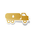 car transports oil sign golden gradient vector image vector image
