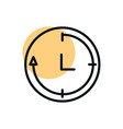 clock service shopping line style dot color vector image
