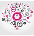 Clothes a gear wheel vector image vector image