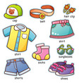 clothes vocabulary vector image vector image