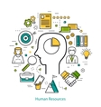 Concept with man head - HR - LineArt vector image vector image