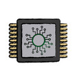 cpu microprocessor circuit board connect vector image vector image