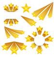 creative stars burst vector image vector image