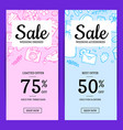 doodle wedding elements sale web banner vector image vector image