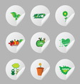 eco icon sticker vector image vector image