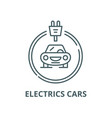 electrics cars line icon linear concept vector image vector image