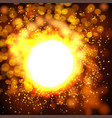 explosion bokeh gold background