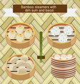 food icon chinese dim sum and baozi vector image vector image
