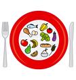 food wheel vector image vector image