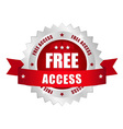 Free access button vector | Price: 1 Credit (USD $1)