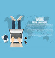 freelancer is working at home with laptop top vector image