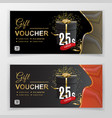 gift voucher template for department stores vector image vector image