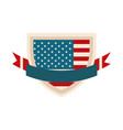happy independence day american flag shield vector image vector image