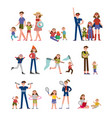 happy moments in family life activity and leisure vector image vector image