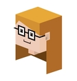 head lego girl with blonde hair and glasses vector image vector image