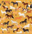 horses seamless pattern flat vector image