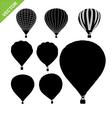 Hot air balloon silhouettes vector image
