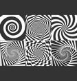 hypnotic spiral swirl hypnotize spirals vertigo vector image