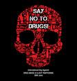 international day against drug abuse background vector image