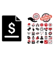 Invoice Page Flat Icon with Bonus vector image vector image
