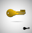 Key to apartment logo Symbol for construction and vector image