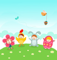 Kids easter party vector | Price: 1 Credit (USD $1)