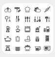 kitchen and cooking icons set vector image vector image